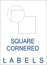Square Cornered Labels