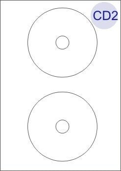 CD/DVD Labels 2 Per Page Inc. Spine