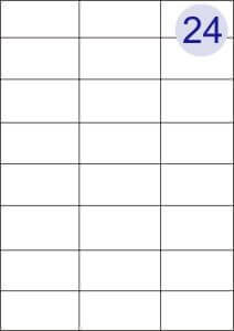 24 Up Labels Sheets (Round Corners)