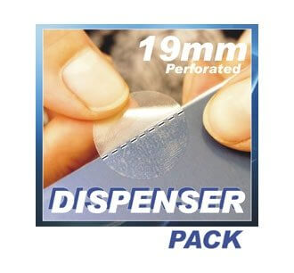 19mm Perforated, Permanent Adhesive. 5000/roll